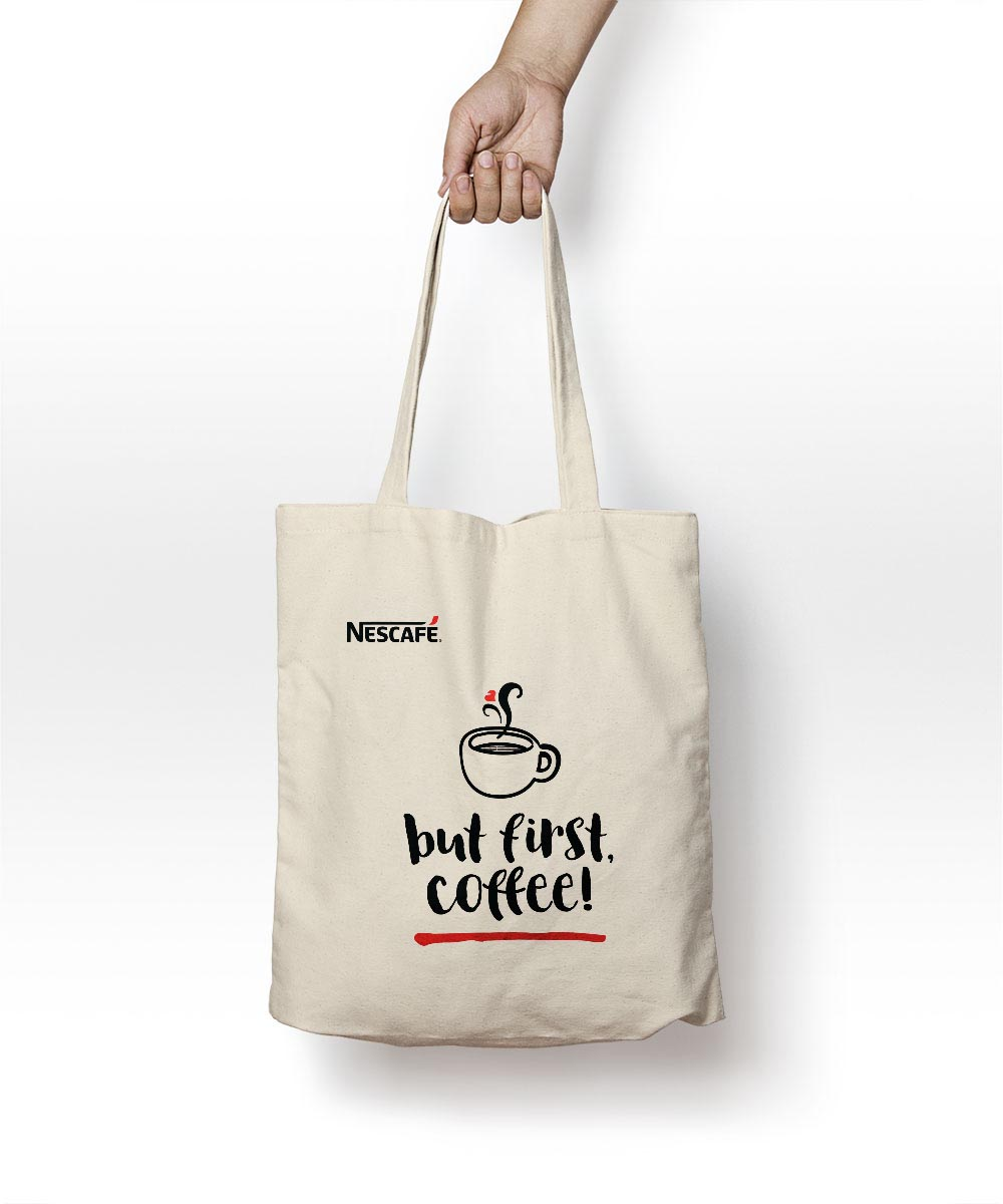 Nescafé reusable canvas tote bags